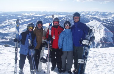 RAC team members skiing at Big Sky, MT, in 2006.