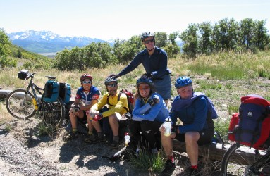 Drs. Till and Grogan on a multi-day mountain biking trip in Colorado in 2004.