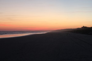 Kiawah Island beach at sunset.