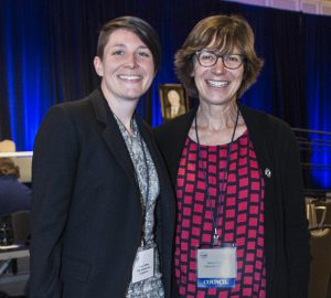 Emily Caffrey and Helen Grogan at the 2019 NCRP annual meeting