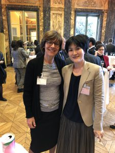 Helen Grogan and Yumiko Hata (METI) at the NEA Symposium reception