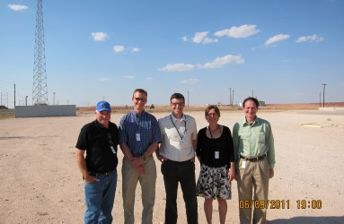 RAC team members visit the Waste Control Specialists site in west Texas in 2011.