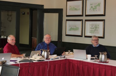 Levity during a meeting of the Atomic Veterans Study dosimetry team in 2013.