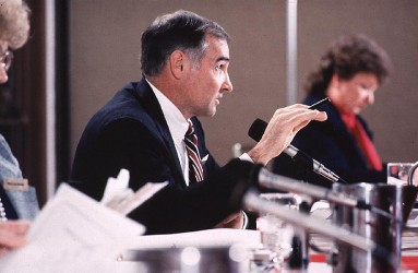 John Till chairing HEDR Technical Steering Panel meeting in 1988.