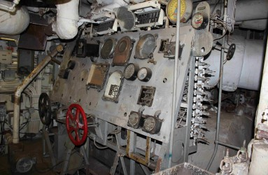 Steam plant operating station on the USS LAFFEY visited to confirm pathways of exposure to Atomic Veterans.