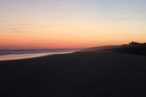 Kiawah Island beach at sunset.