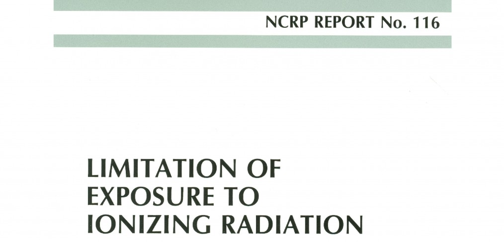 NCRP Report 116 Cover