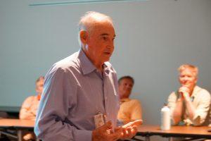 John Till presents a seminar at the Savannah River Site.